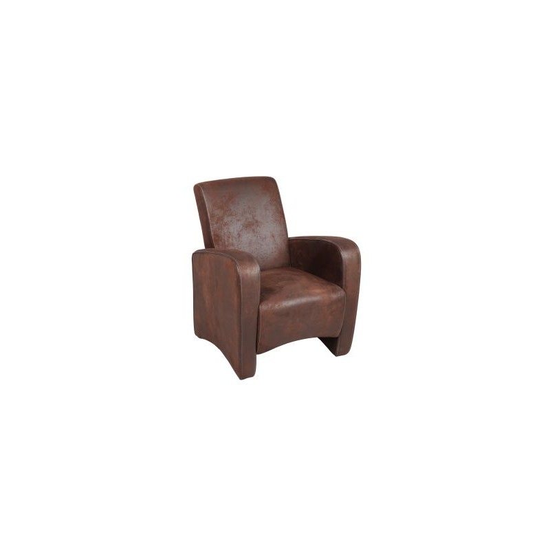 fauteuil club microfibre chalon trousseau. Black Bedroom Furniture Sets. Home Design Ideas