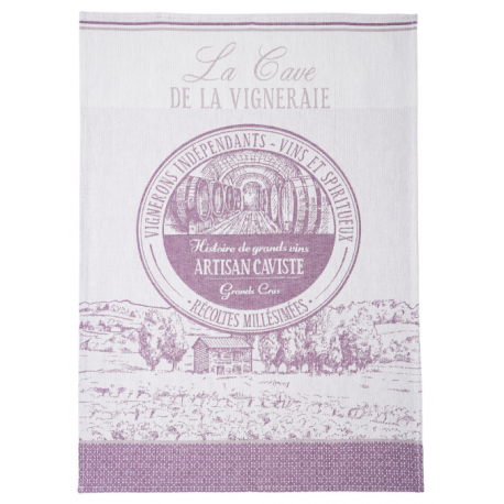 Torchon le caviste violet coucke chalon trousseau for Drap housse traduction