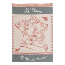 Torchon jacquard CARTE FROMAGERE