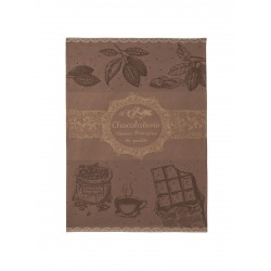 Torchon jacquard CHOCOLATERIE