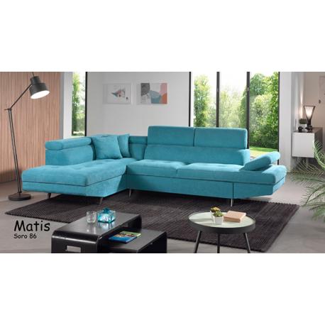 Canapé lit + Méridienne coffre MATIS