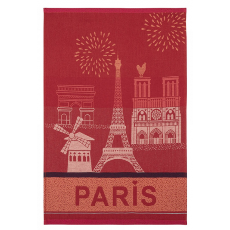 Torchon jacquard PARIS CITY