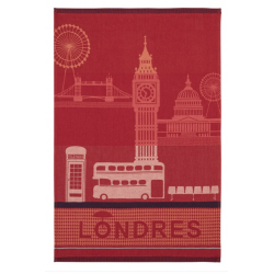 Torchon jacquard LONDON CITY
