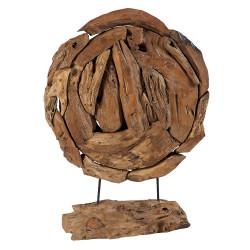 Sculpture déco ronde en racine MUSTSC 1