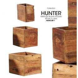 Set de 3 cubes HUNCUB1