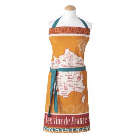 Tablier imprimé VINS DE FRANCE